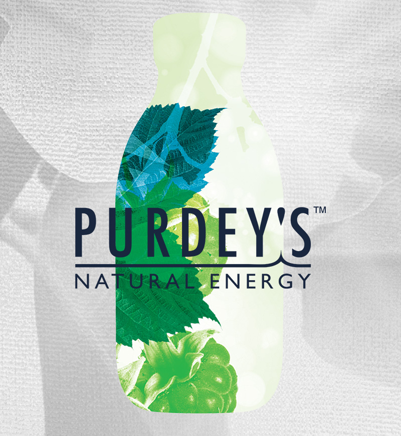 Purdeys Bottle Mobile Drk Logo